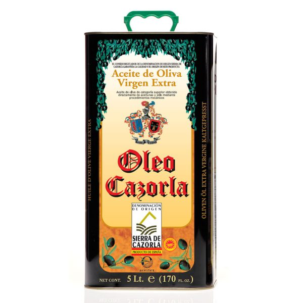 Aceitex - Export - Oleo Cazorla - Aceite de Oliva Virgen Extra 5L