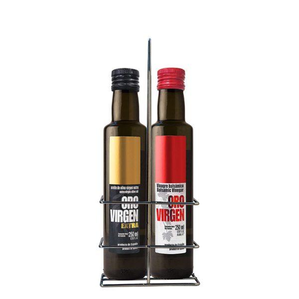 Combo: Aceite de Oliva Virgen Extra + Vinagre - Oro Virgen 2 x 250ml